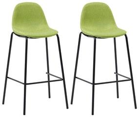 Barstoelen 2 st stof groen