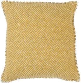 Kussen lamswol Samba: geel Met binnenkussen 45 x 45 cm