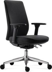 Zwarte bureaustoel verstelbaar Samos