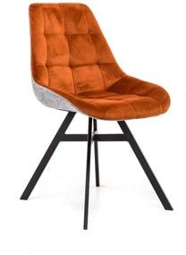 Mister Habitat   Eetkamerstoel Isa zithoogte 45 cm x zitbreedte 50 cm x zitdiepte 42 oranjebruin, zwart eetkamerstoelen   NADUVI outlet