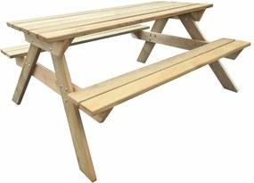 Picknicktafel 150x135x71,5 cm FSC hout