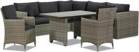 Garden Collections Comodo/Lusso 130 cm dining loungeset 8-delig