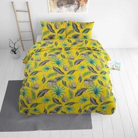 Sleeptime Elegance Yellie - Geel 1-persoons (140 x 220 cm + 1 kussensloop) Dekbedovertrek