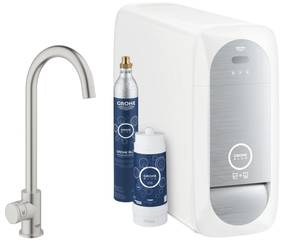 Grohe Blue Home Duo C Bruisend Water Keukenmengkraan Tweegreeps 1 Gats Chroom