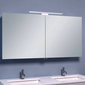 BWS LED Spiegelkast Luxe Aluminium 120x60x14 cm