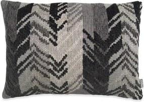 Kussen grijs, zwart, langwerpig, Ibiza Met binnenkussen 50 x 35 cm