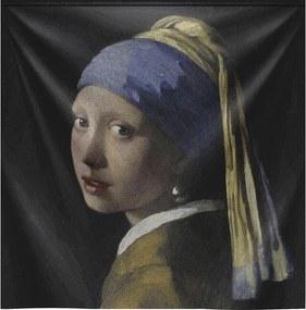 Goossens Schilderij Wandkleed Meisje Met De Parel, 136 x 136 cm