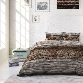Sleeptime Elegance Panther Style - Taupe 1-persoons (140 x 220 cm + 1 kussensloop) Dekbedovertrek