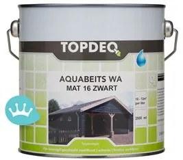 Topdeq Zwarte Matte Beits - Zwart - 2,5 l