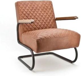 Eleonora Marc Vintage Design Fauteuil Van Cognac Leder
