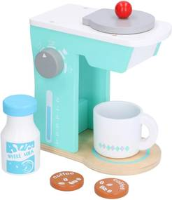 Koffiemachine, hout, 5-delig, 3+