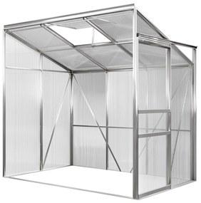Deuba Aluminium zij serre 192x127x202cm met venster