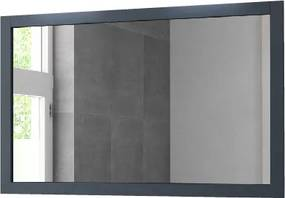 Spiegel 120 cm. oud blauw