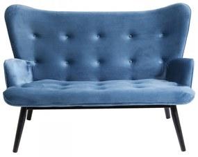 Kare Design Vicky Velvet Fluwelen Bank Blauw