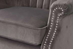 Fauteuil Scarlett Velvet Dark Grey 78x83x101cm