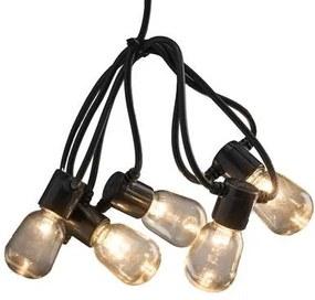 LED Partysnoer Transparant Amber 9.75m/40 lampjes