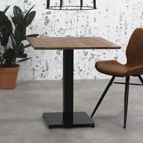 Dimehouse   Eettafel Bistro lengte 70 cm x breedte 70 cm x hoogte 73 cm bruin bistrotafels hout, staal meubels tafels   NADUVI outlet