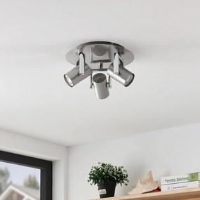 Reina plafondlamp, nikkel, 3-lamps, rond - lampen-24