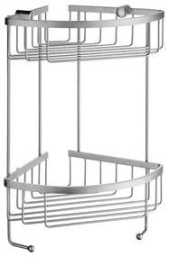 Sideline hoek douchekorf dubbel 19,5x19,5 cm mat-chroom
