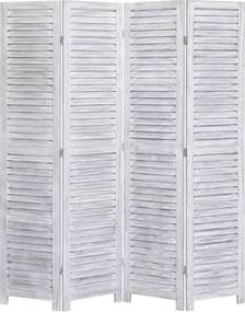 Kamerscherm met 4 panelen 140x165 cm hout grijs