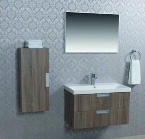 Scala badmeubelset 80x42cm Engels-Eiken met keramische wastafel en spiegel