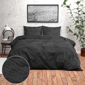 Zensation Verona - Zwart 1-persoons (140 x 220 cm + 1 kussensloop) Dekbedovertrek