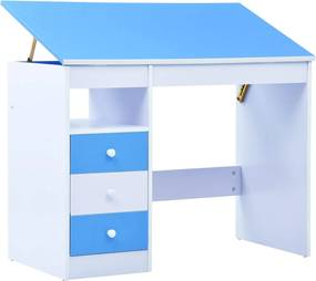 Kindertekentafel/-bureau kantelbaar blauw en wit