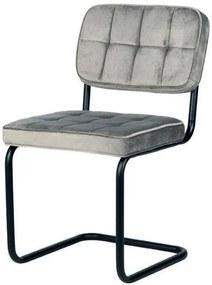 Trend Living | Eetkamerstoel Vince breedte 49 cm x hoogte 83 cm x diepte 57 cm grijs eetkamerstoelen fluweel stoelen & fauteuils | NADUVI outlet