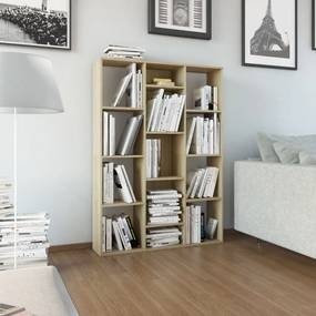 Kamerscherm/boekenkast 100x24x140 cm spaanplaat eikenkleurig