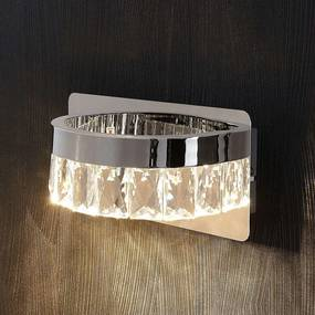 Verchroomde kristallen LED wandlamp Sula