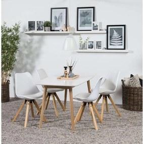 Eethoek Ulfborg Verdal (tafel met 4 stoelen) - wit - Leen Bakker