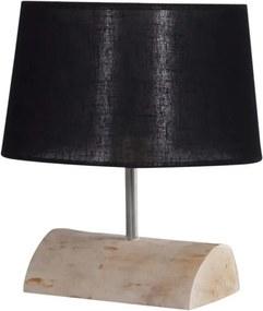 Tafellamp Halve Brocante Stam met Zwarte Kap