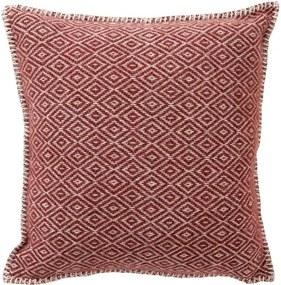 Kussen lamswol Stella: roodbruin, roest Met binnenkussen 45 x 45 cm