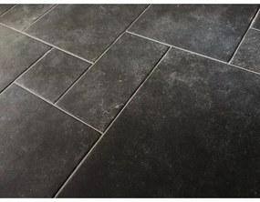 Realonda Cerámica Vloertegel Module vloer Borgogna Stone Black romaans verband cm Natuursteen look Mat Antraciet SW07310378