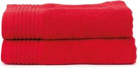 The One Towelling 2-PACK: Handdoek Basic - 50 x 100 cm - Red