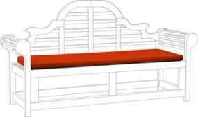 Kussen voor tuinbank MARLBORO terracotta 152 x 52 x 5 cm