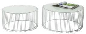 Kare Design Wire Bijzettafelset Wit Staaldraad Wire