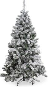 Kunst boom met sneeuw flock