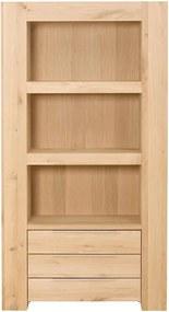 Goossens Boekenkast Quint, 103 cm breed, 3 laden, 3 open vakken