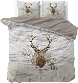 DreamHouse Bedding Christmas Deer 1-persoons (140 x 200/220 cm + 1 kussensloop) Dekbedovertrek
