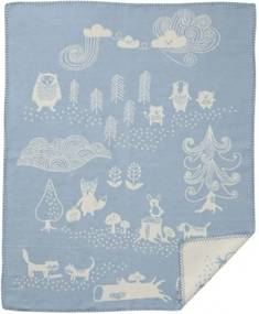 Klippan - Wiegdeken Katoen Little Bear - Blauw