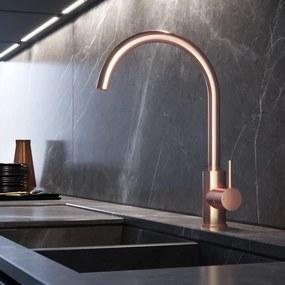 Cobber 1-hendel keukenkraan, geborsteld koper