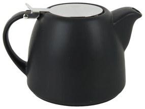Moderne theepot met filter - zwart - 1 liter