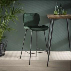 Barstoel Gael Velvet, kleur Groen (zithoogte 67cm)