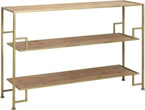 Kast SUTERA open - goud + hout 120x35x80 cm