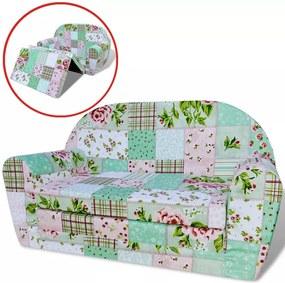 Loungestoel voor kinderen uitklapbaar bloemenpatroon