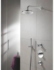 IBS 3 Get Together inbouw doucheset Chap geborsteld nikkel - met staafhanddouche - plafondbuis 30cm - hoofddouche 30cm - glijstang