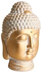 Boeddha hoofd XL - goud - 23x23x40 cm