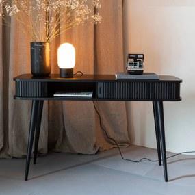 Zuiver Barbier Black Zwarte Design Sidetable - 120 X 35cm.