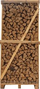 Mega Pallet Eikenhout Haardhout – 2 kuub gestapeld - 1000 houtblokken a 25cm